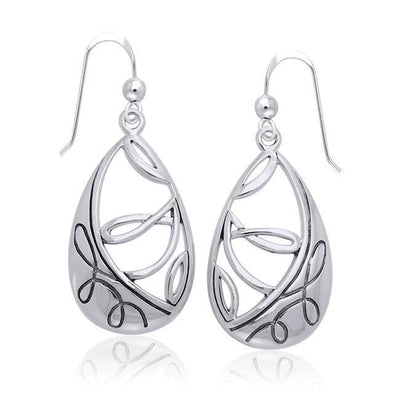 Organic Springtime Silver Earrings TER1169 Earrings