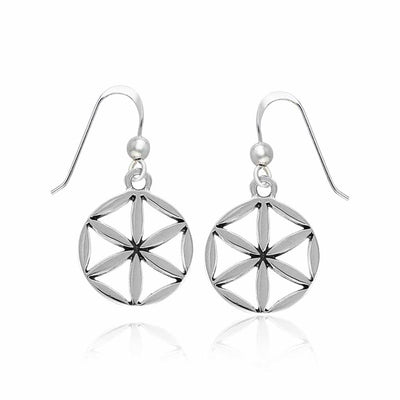 Flower of Life Silver Earrings TER1393