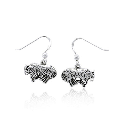 Celtic Wolf Silver Earrings by Brigid Ashwood TER1398