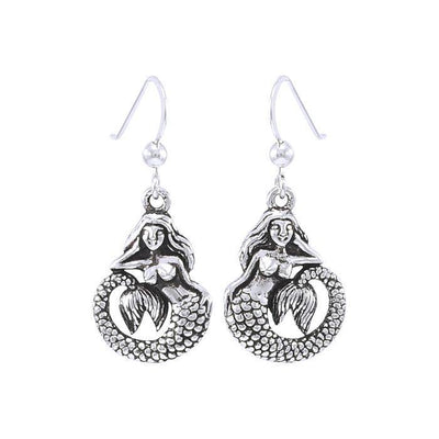Fine Sterling Silver Ocean Mermaid Earring with  french hook ~ your item TER1470