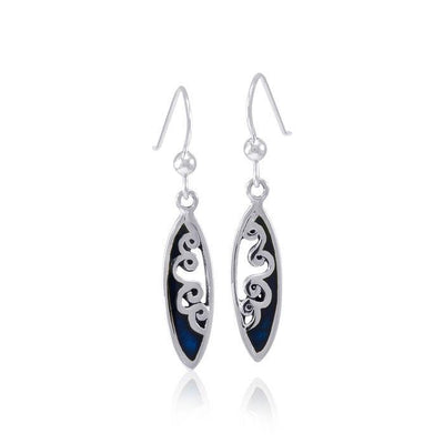 Ocean Wave Inlaid Surfboard Earrings TER1598