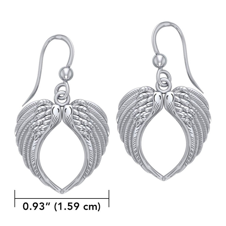 Feel the Tranquil in Angelโ€™s Wings ~ Sterling Silver Jewelry Earrings TER1671 Earrings