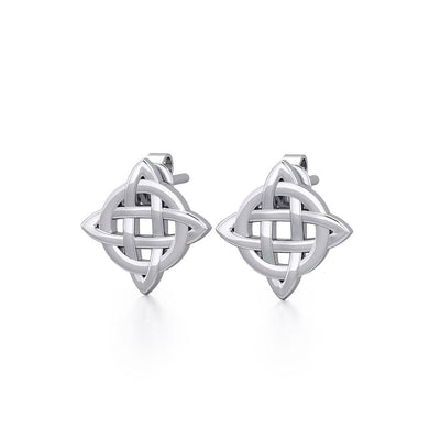 Irish Celtic Knot Sterling Silver Post Earrings TER1756