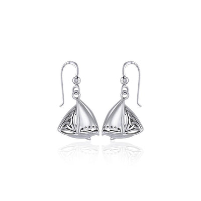 Celtic Knots Silver Sailboat Hook Earrings TER1760