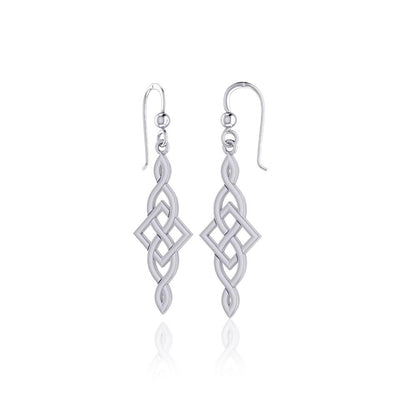 Irish Celtic Knot Sterling Silver Hook Earrings TER1761