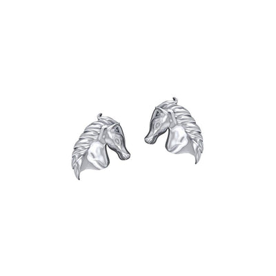 Equestrian Horse Silver Post Earrings TER1872