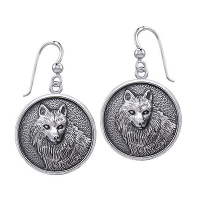Wonderful Wolf Sterling Silver Earrings TER1894