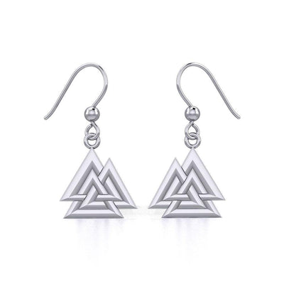 Sterling Silver Viking Valknut Earrings Jewelry TER1910 Earrings