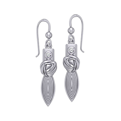 Goddess Knot Silver Earrings TER194