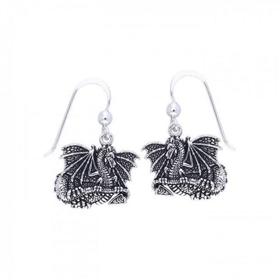 Silver Dragon Earrings TER213