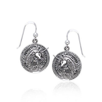 Unicorn Silver Earrings TER214 Earrings