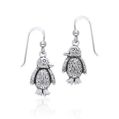 Silver Penguin Earrings TER362 Earrings