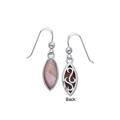 Marquise Cabochon Filigree Earrings TER364