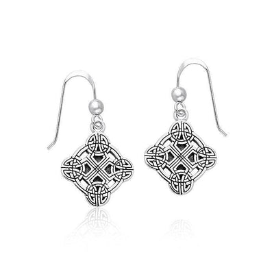 Celtic Clonmacnoise Cross Silver Earrings TER470