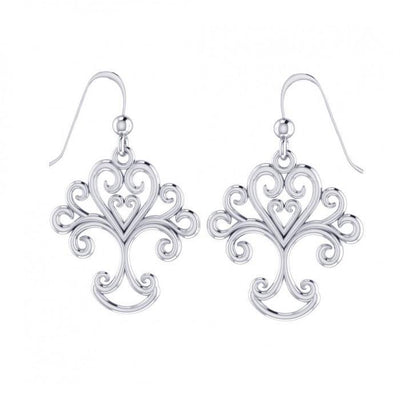 Tree of Life Silver Earrings TER505