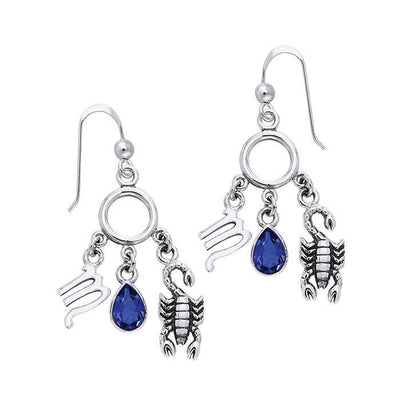 Scorpio Silver Astrology Earrings TER891