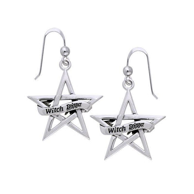 Witch Diva The Star Silver Earrings TER926