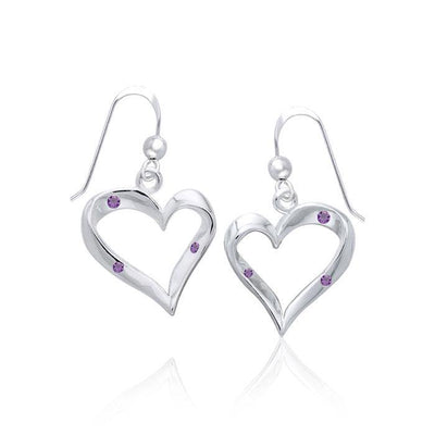 Heart Shape with Gem Earrings TER954 Earrings