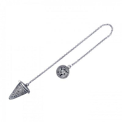 Silver Celtic Design Pendulum TM004