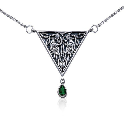 Celtic Knotwork Silver Necklace TN053