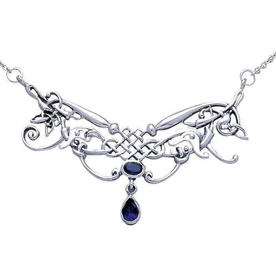 Celtic Knotwork Silver Necklace TN054