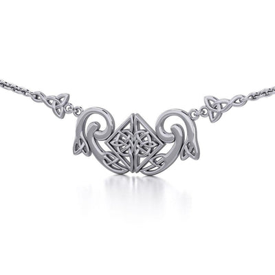 A bold statement of eternity ~ Celtic Knotwork Sterling Silver Necklace Jewelry TN161