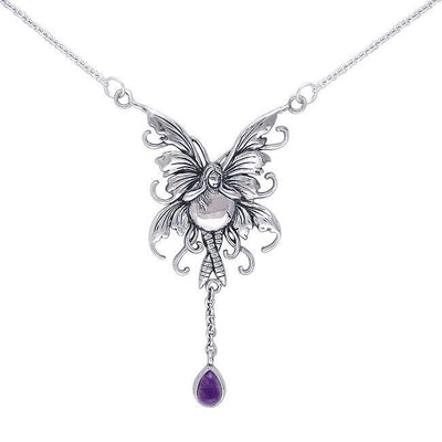 Enchanted by the Bubble Rider Fairy's beauty ~  Sterling Silver Jewelry Necklace TN300