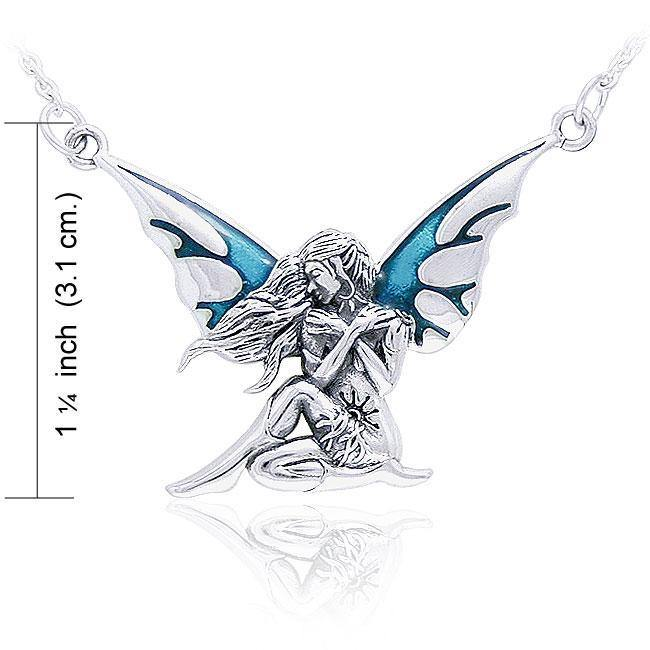 Dark Wings Fairy Silver Necklace TNC003