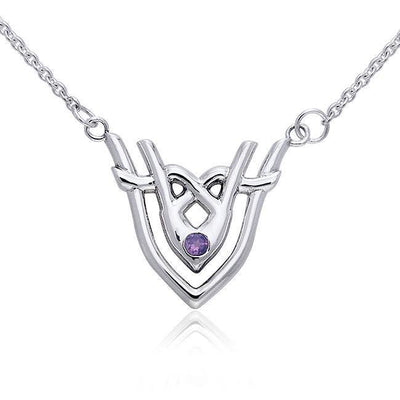 Art Deco Silver Necklace TNC057