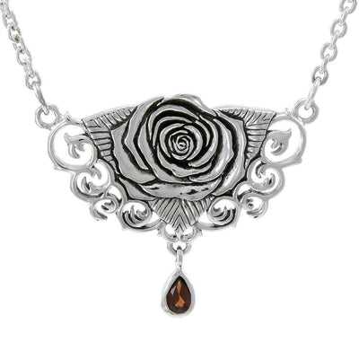 Brigid Ashwood Sacred Rose Silver Necklace TNC061
