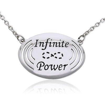 Empowering Words Infinite Power Silver Necklace TNC087