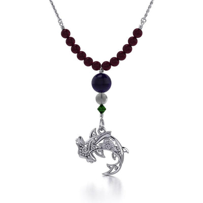 Filigree Hammerhead Shark Silver Bead Necklace TNC473 Necklace