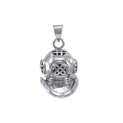 3D Dive Helmet ~ Sterling Silver Pendant Jewelry TP1021