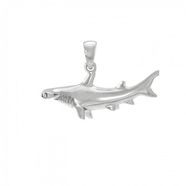 In the world of hammerhead shark beyond you can imagine ~ Sterling Silver Jewelry Pendant TP1057 Pendant
