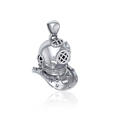 Historic Dive Helmet ~ Sterling Silver Pendant Jewelry TP1564