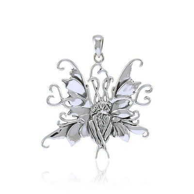 Amy Brown Blue Fairy ~ Sterling Silver Jewelry Pendant TP1663