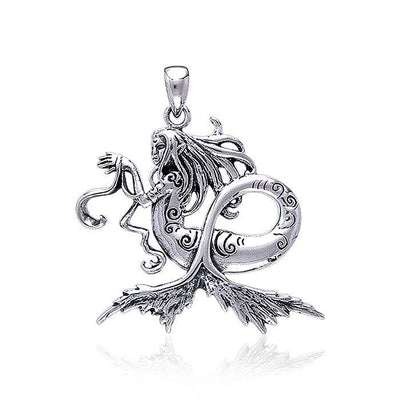 Amy  Brown Dark Water Sterling Silver Fairy Pendant TP1664