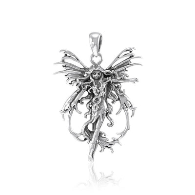Amy Brown Sterling Silver Fire Element Fairy Jewelry Pendant TP1665
