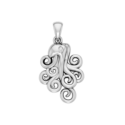 A mystical flexibility ~ Sterling Silver Octopus Pendant Jewelry TP1706