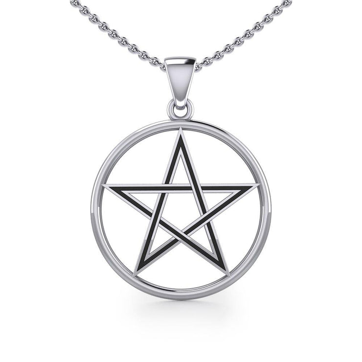 The Beautiful Reminder of a Pentacle Sterling Silver Pendant TP189
