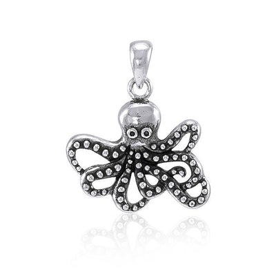 Master of mystery ~ Sterling Silver Octopus Pendant Jewelry TP2450