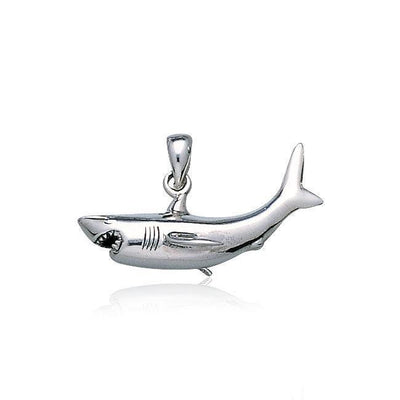 A grand symbolism of the ocean ~ Sterling Silver Jewelry Shark Pendant TP2630