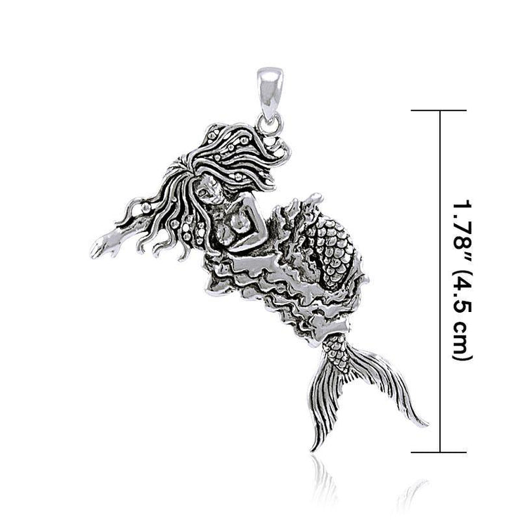 Moveable Mermaid Silver Pendant TP2695