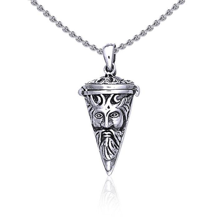 Green Man Pendulum ~ Sterling Silver Pendant Jewelry TP2853