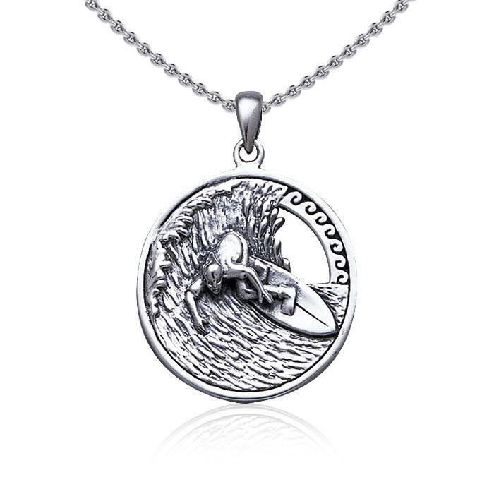 Surf up ~ Sterling Silver Pendant Jewelry TP2942