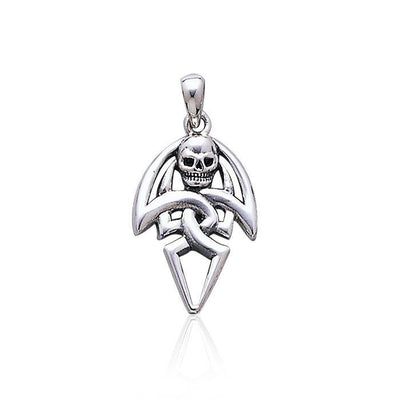 Wrapped in wonder and mystery ~ Sterling Silver Jewelry Pirate Skull Pendant TP3054