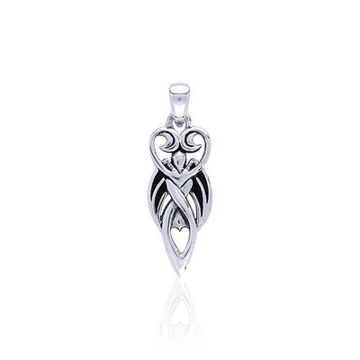 Winged Goddess Silver Pendant TP3149