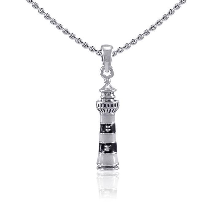 Bodie Island Lighthouse ~ Sterling Silver Jewelry Pendant TP3169