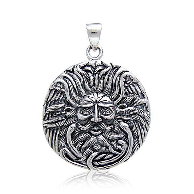 Sun God Medallion Pendant by Oberon Zell TP3199