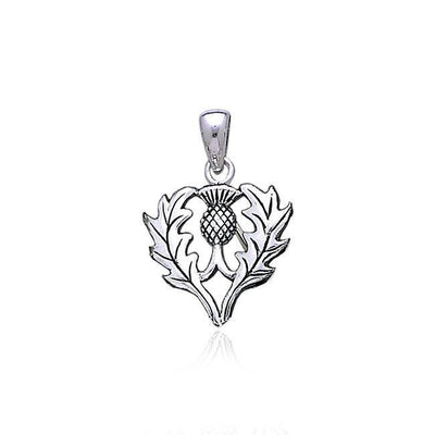 Scottish Thistle Silver Pendant TP3258 Pendant
